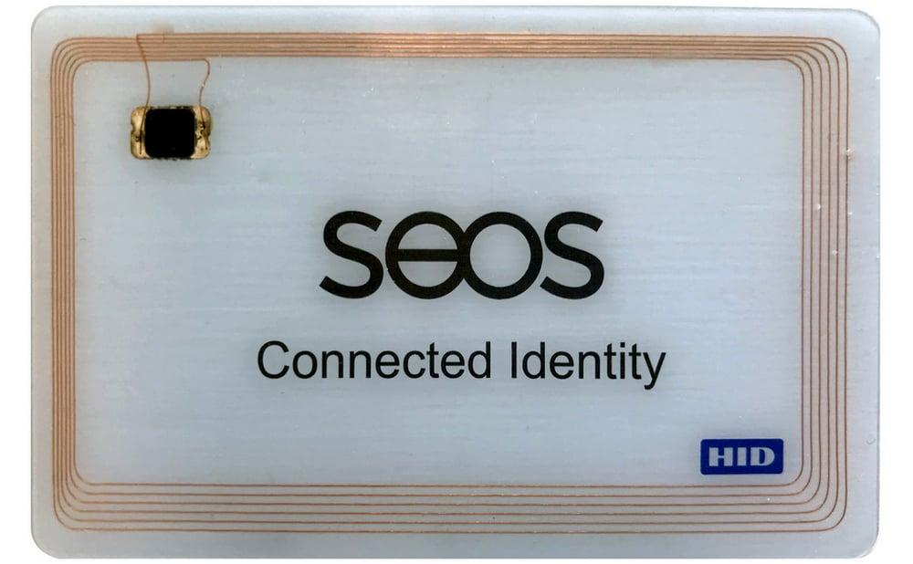 Seos adgangskort med innvendige antenner synlige.